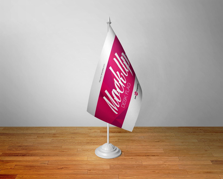 Desk Flag Mockup