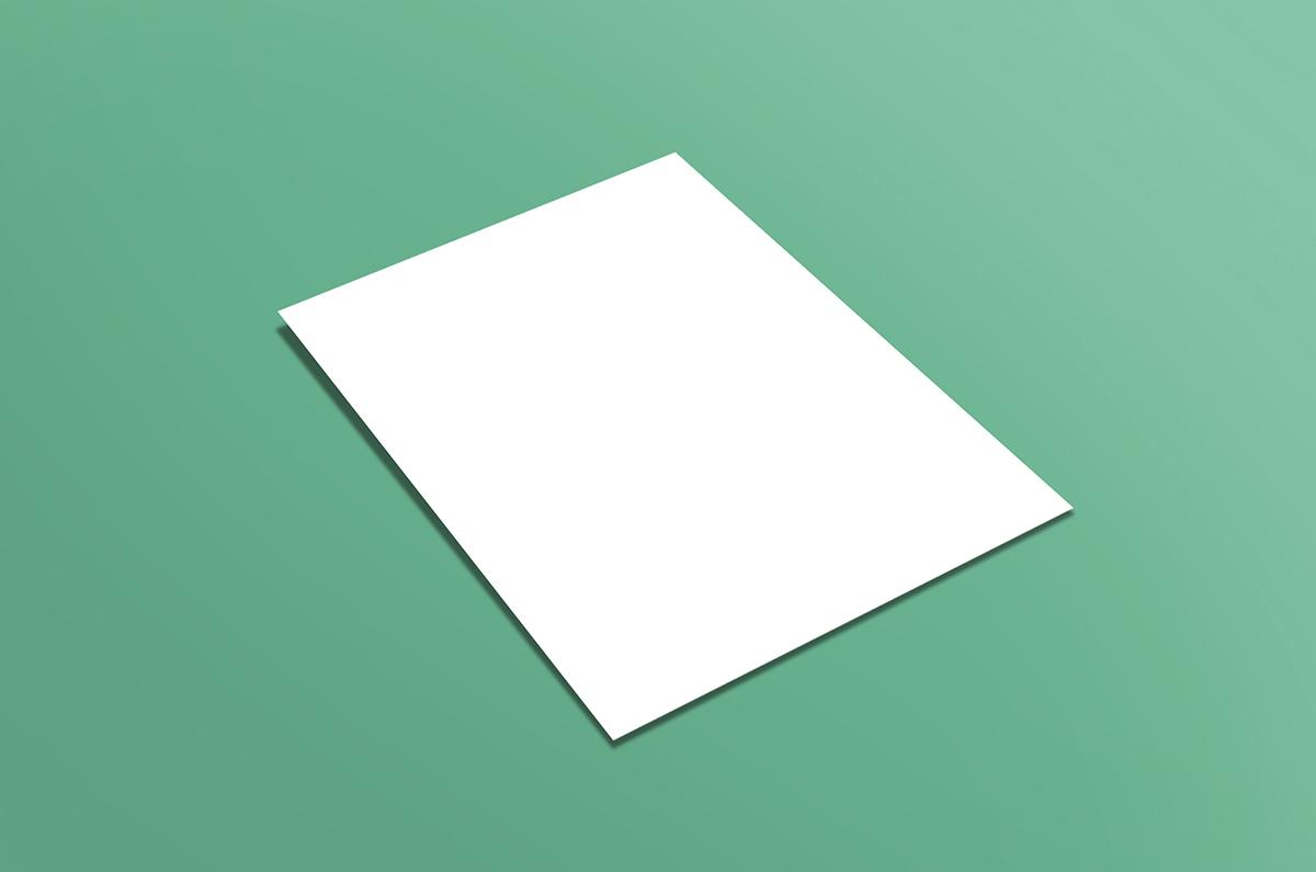 Flat A4 Flyer Mockup