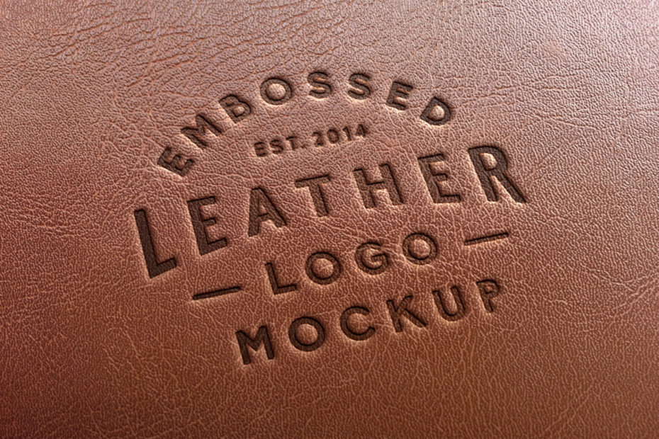 free leather embossed logo mockup mockup city free leather embossed logo mockup