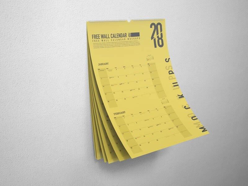Wall Calendar Mockup 01