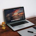 Asus Laptop with drawing Pad Mockup