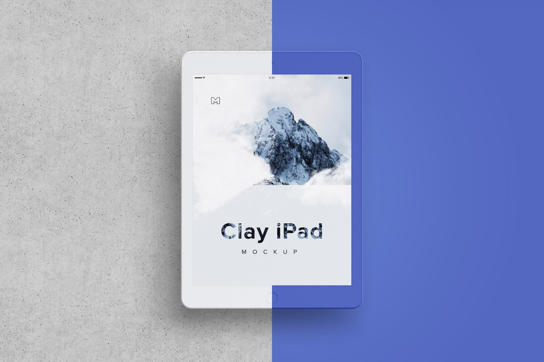Clay iPad Mockup