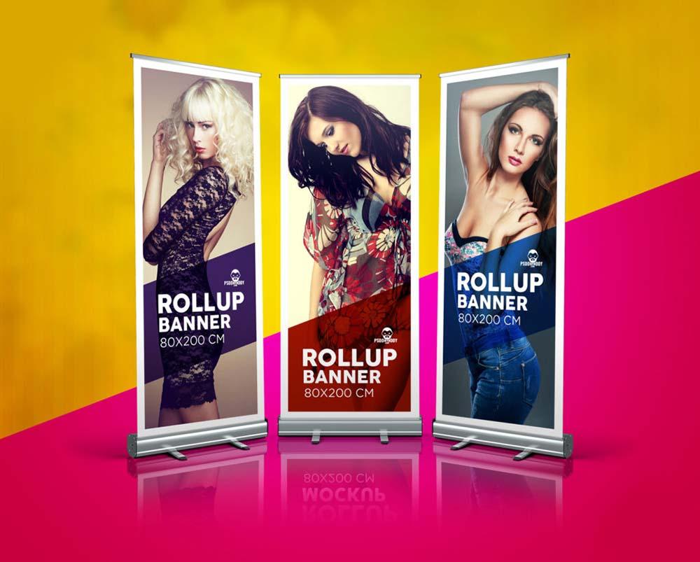 Fashion Rollup Banner Mockup