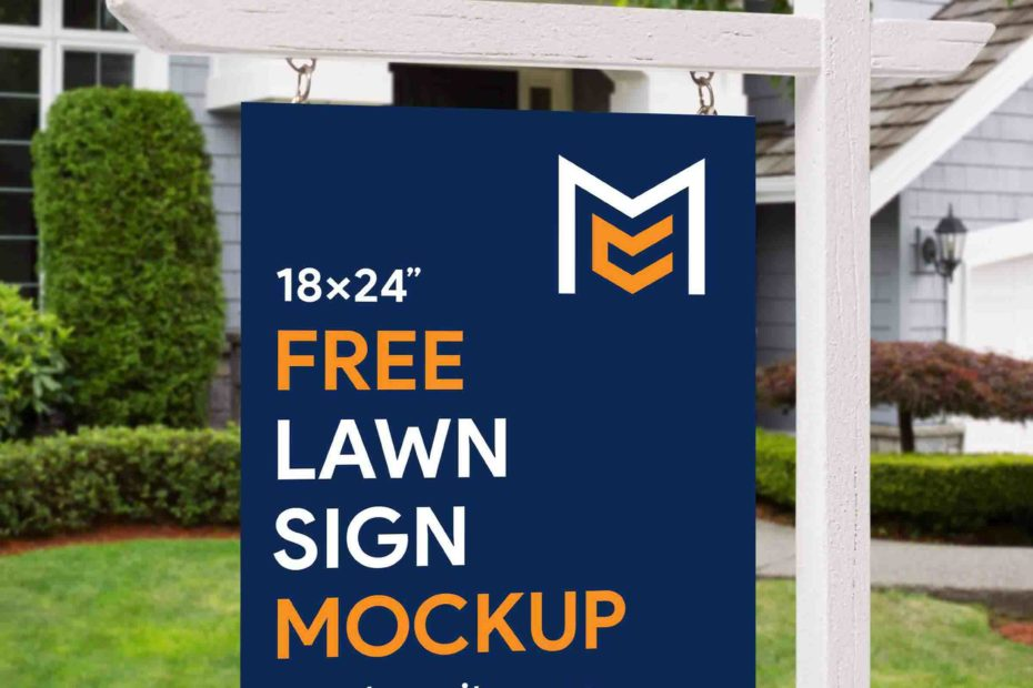 Free Lawn Sign Mockup by Mockup City