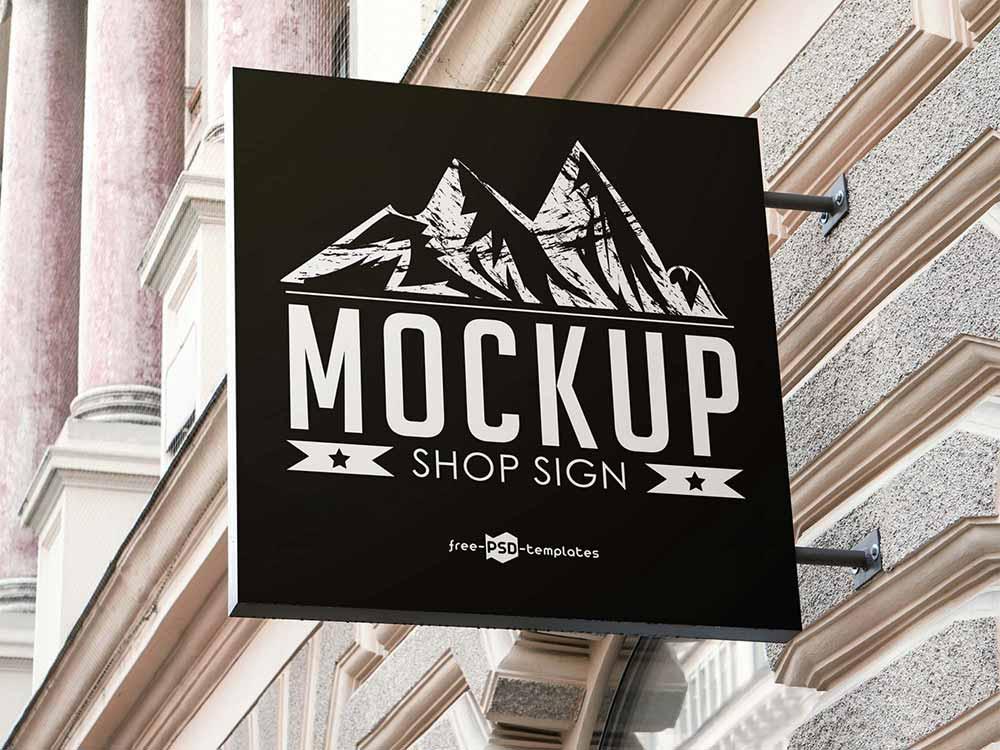 Shop Sign Mockup