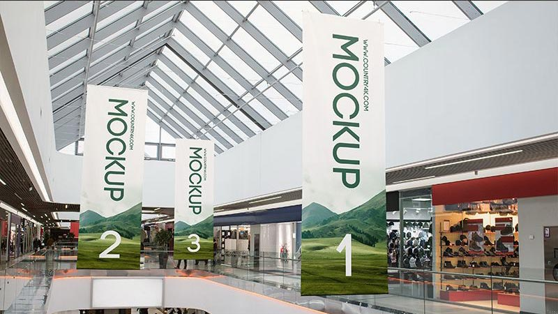 Shopping Center Banners Mockup