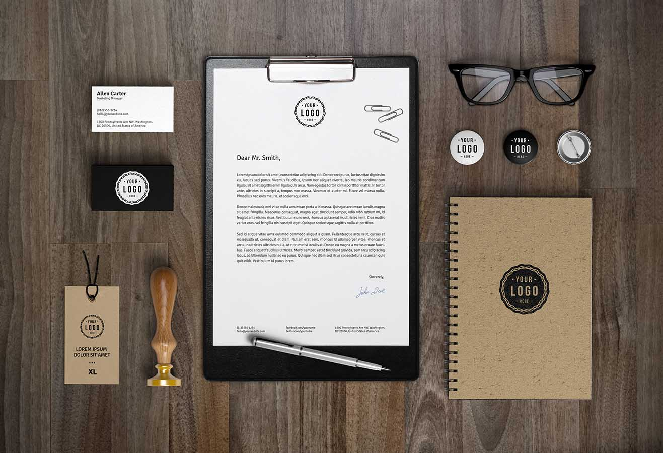 Stationery Mockup PSD
