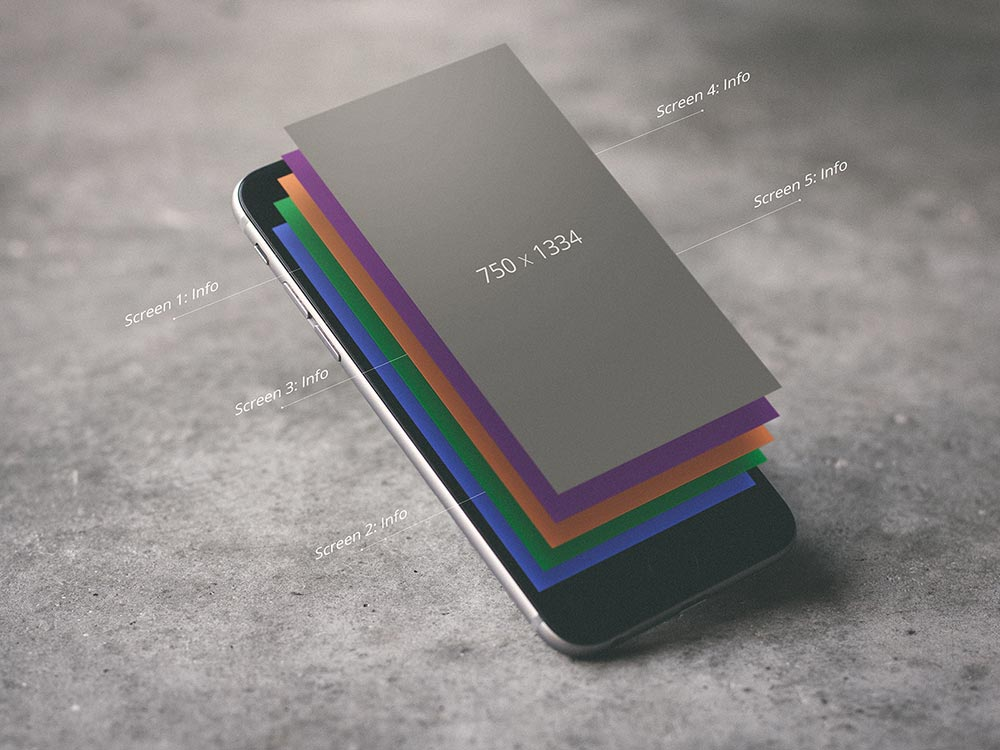 iPhone Layered UI Mockup