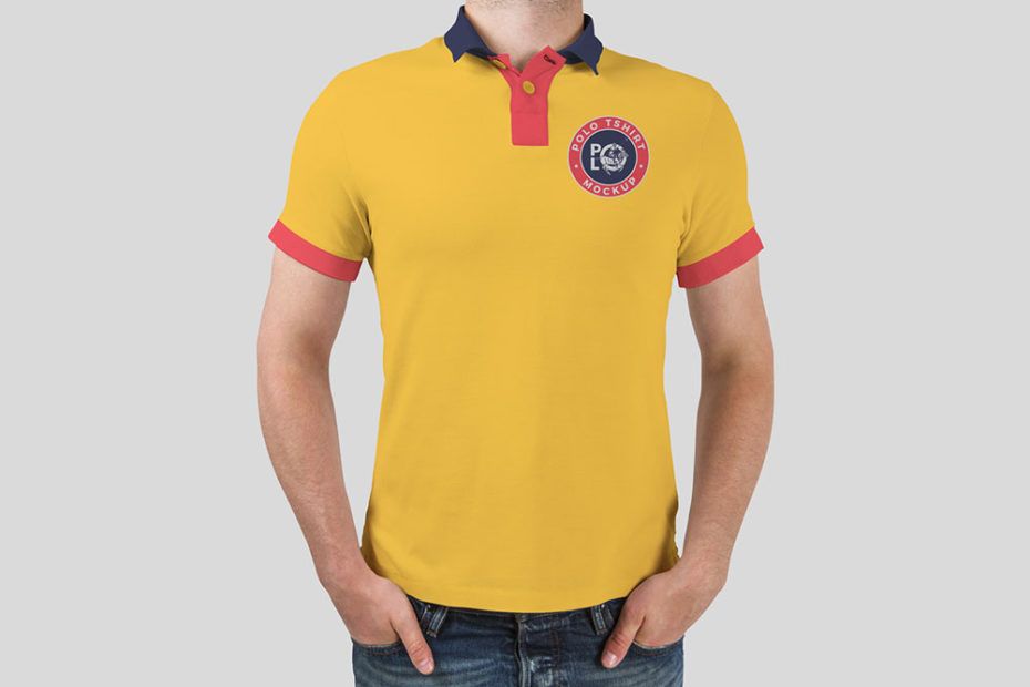 Man wearing yellow color polo t shirt