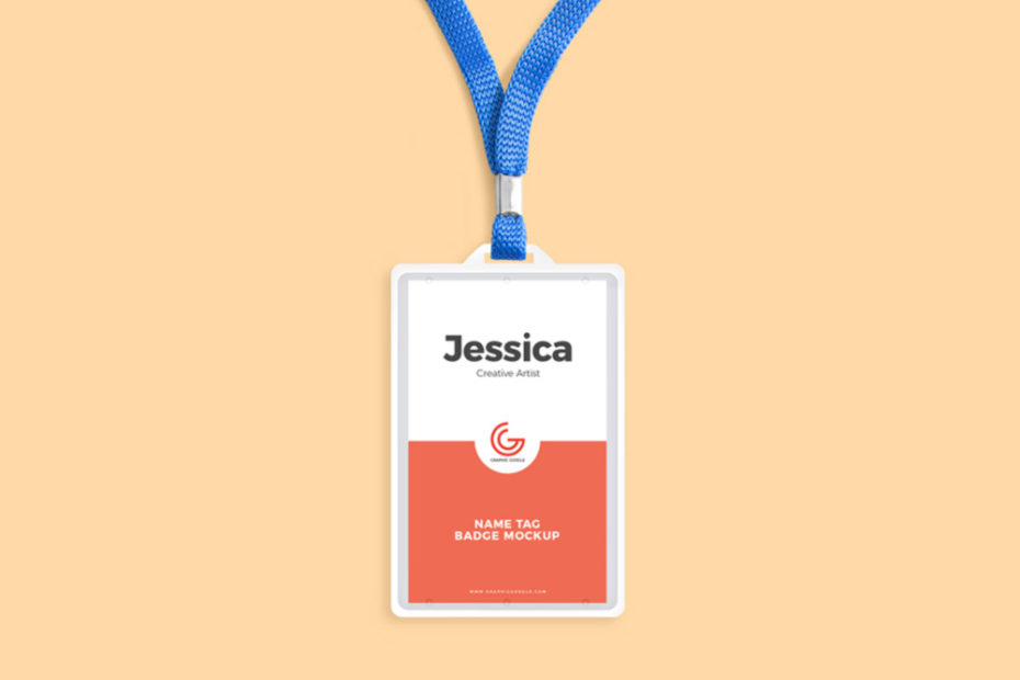 Simple ID Card with Blue Ribbon