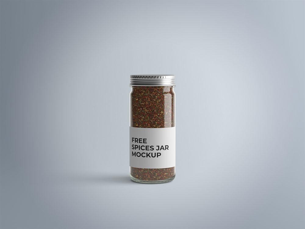 A glass jar contain spices