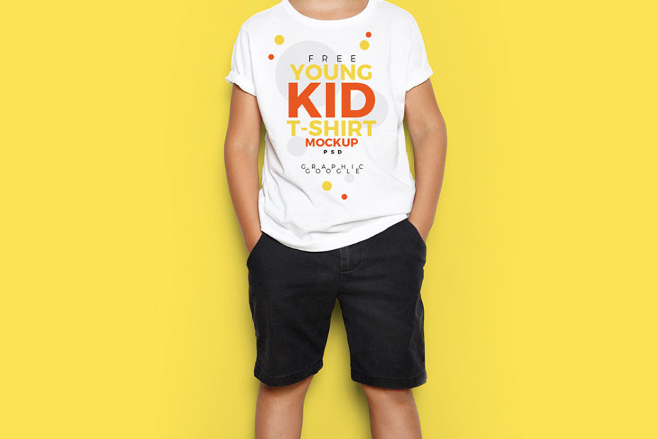 Young Kid Standing in-front of yellow wall