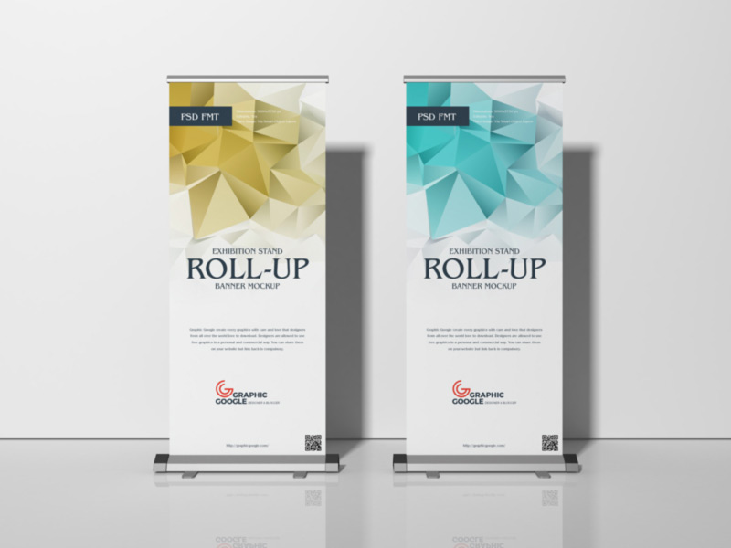 Exhibition Rollup Banner Mockup