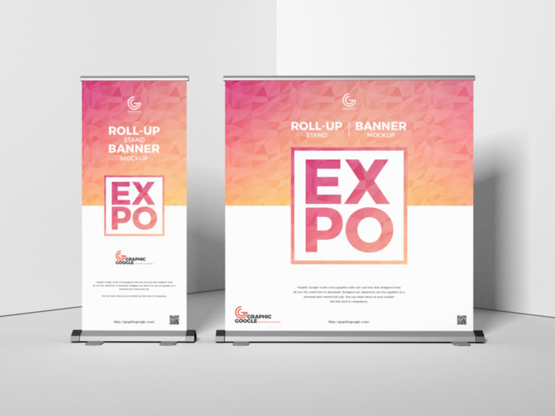Expo Roll Up & Backdrop Mockup