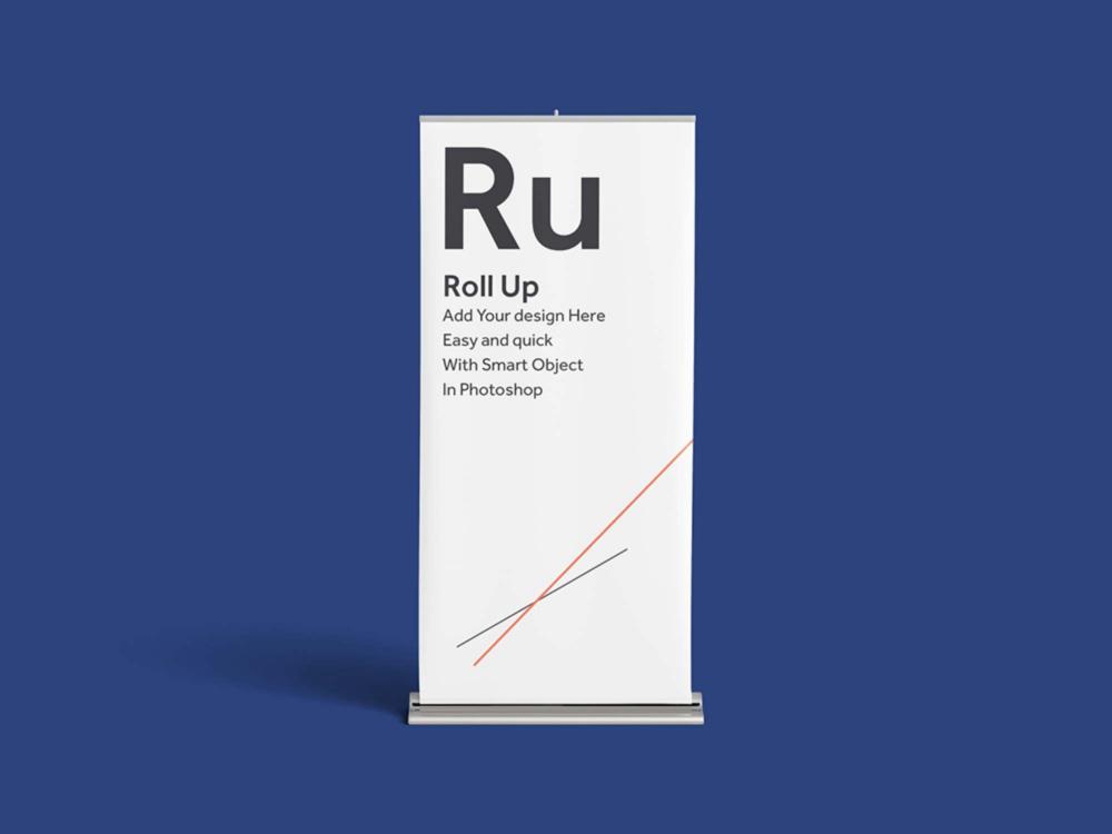 Realistic Rollup Mockup