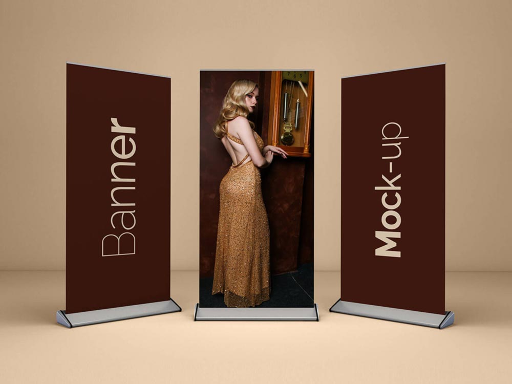 Roll Up Banner Free Mockup
