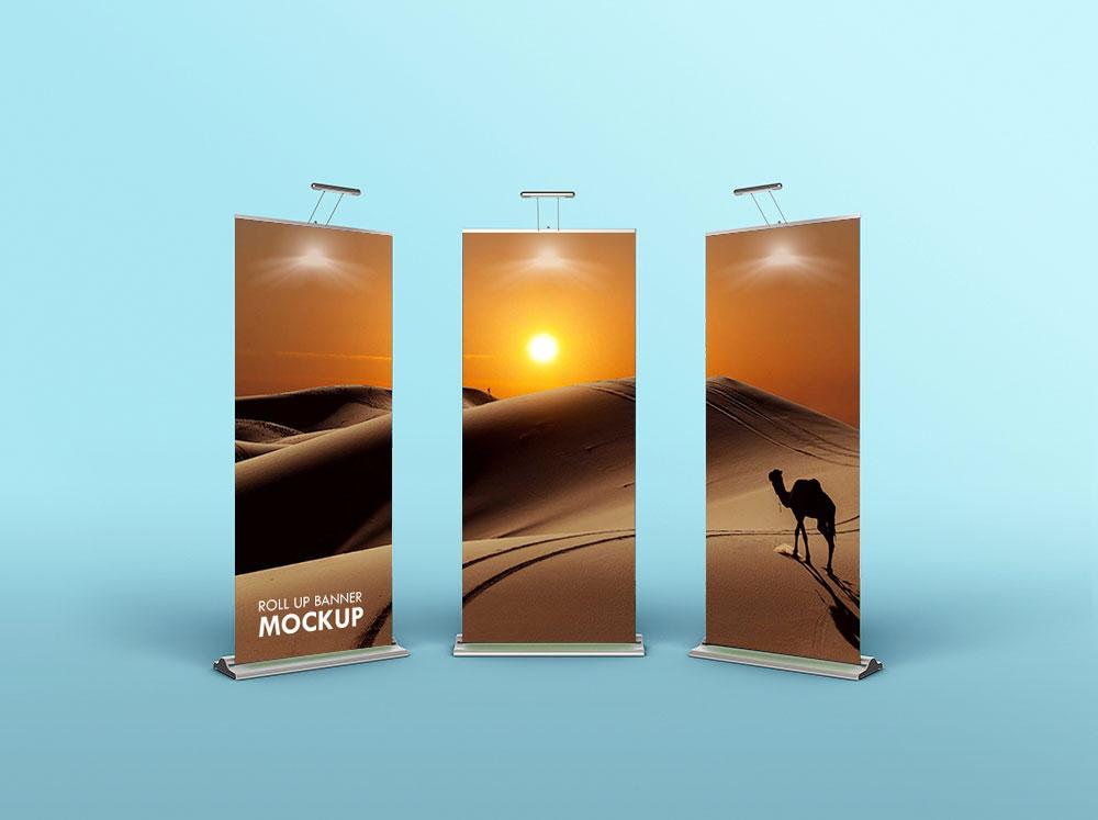 Rollup Banner Mockup Set