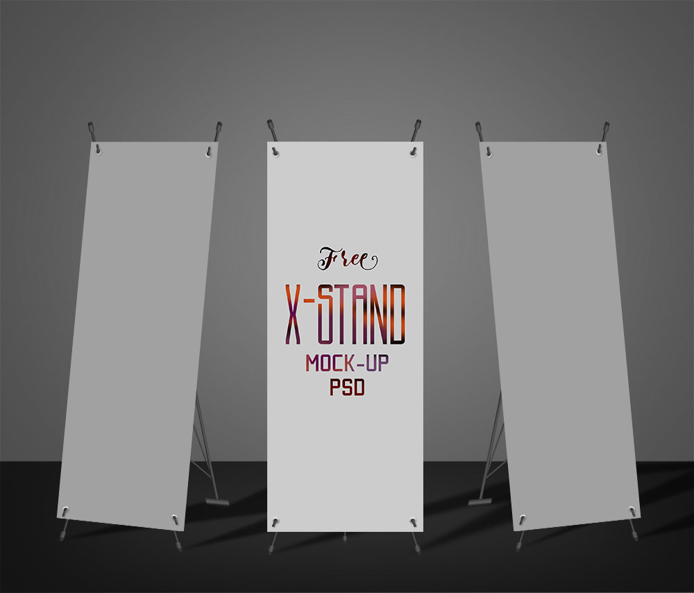 X-Stand Roll Up Mockup