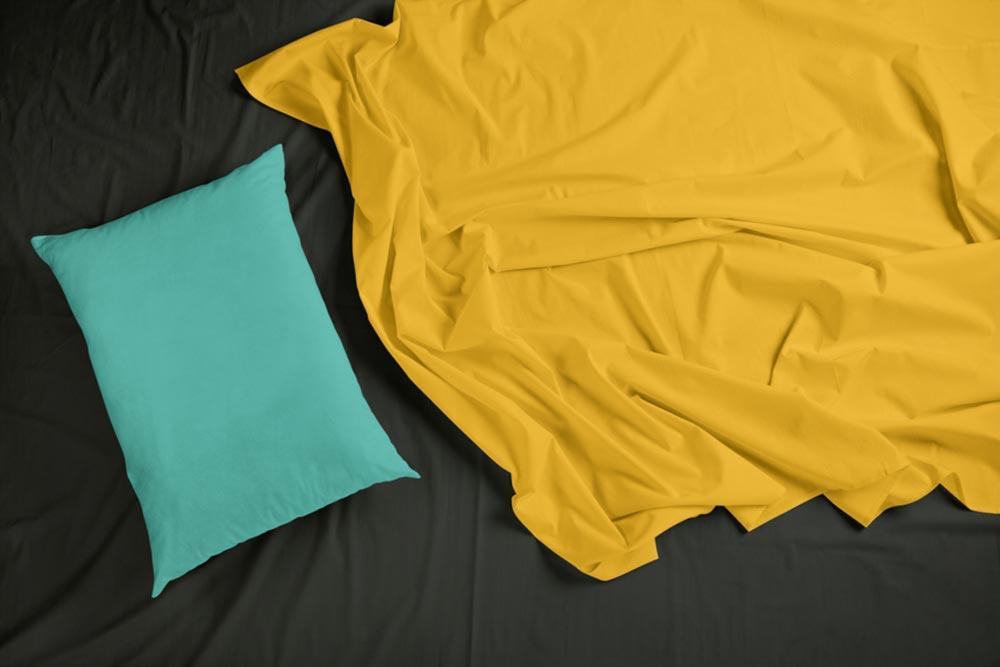 Bedding Sheets & Pillow Mockup