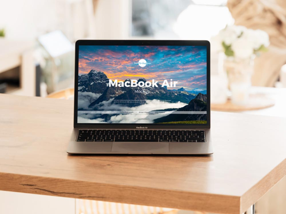 Free MacBook Air Mockup