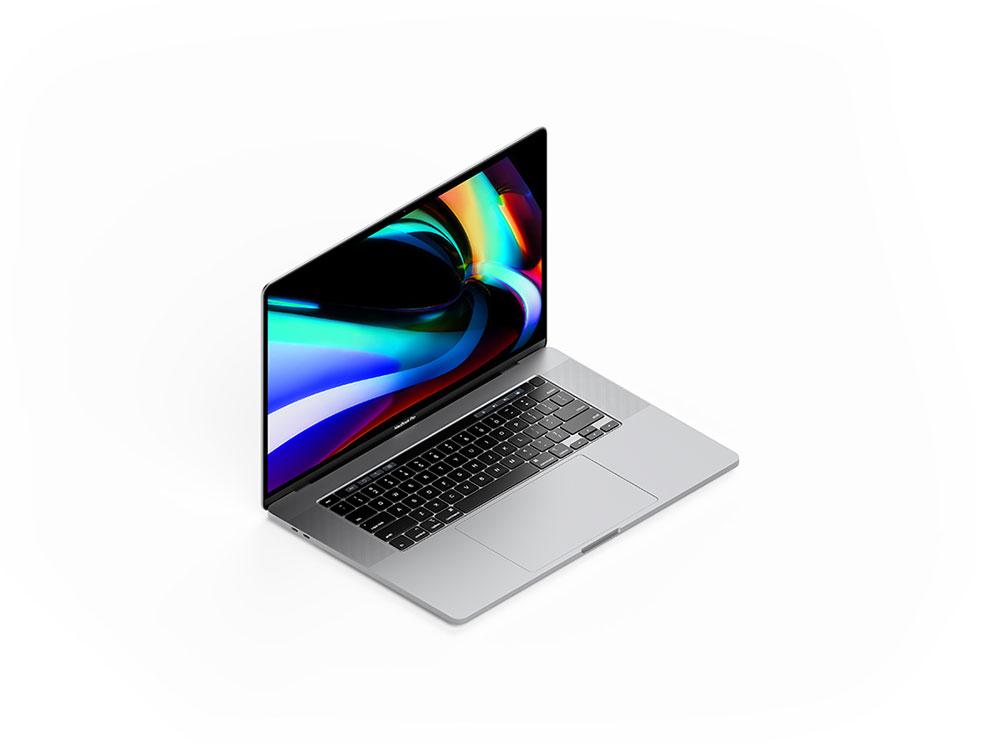 Free MacBook Pro 16 Inch Mockup