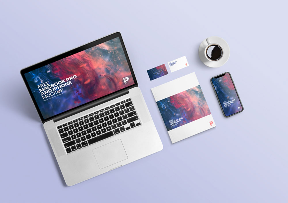MacBook Pro and iPhone Mockup