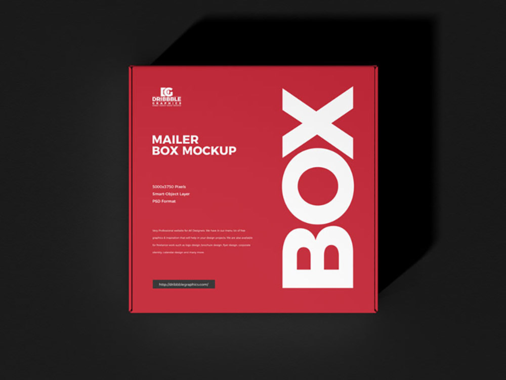 Free Mailer Box Mockup PSD