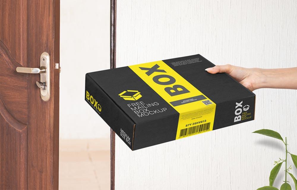 Free Mailing Box Mockup PSD