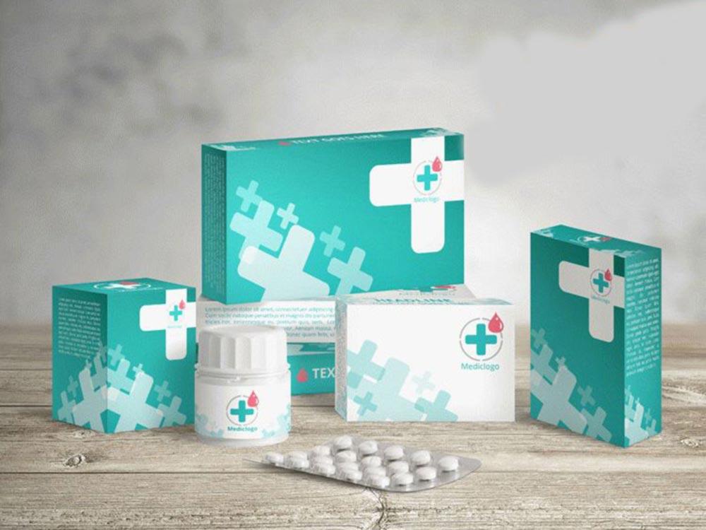 Free Medicine Boxes Mockup PSD