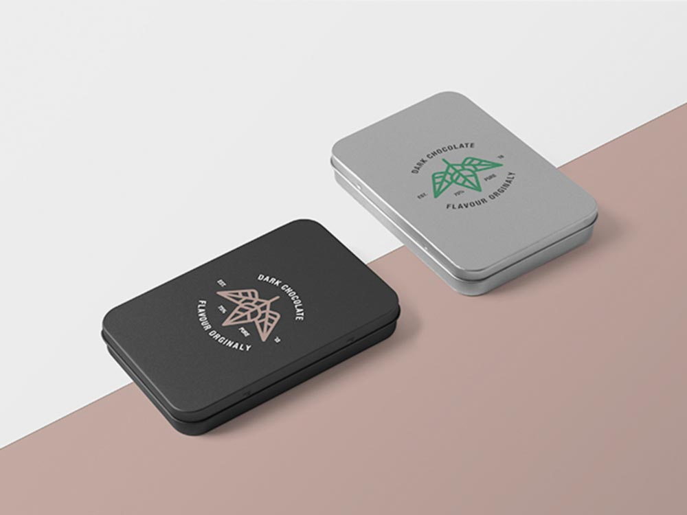Free Metal Boxes Mockup PSD