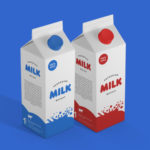 Free Milk Packaging Mockup PSD