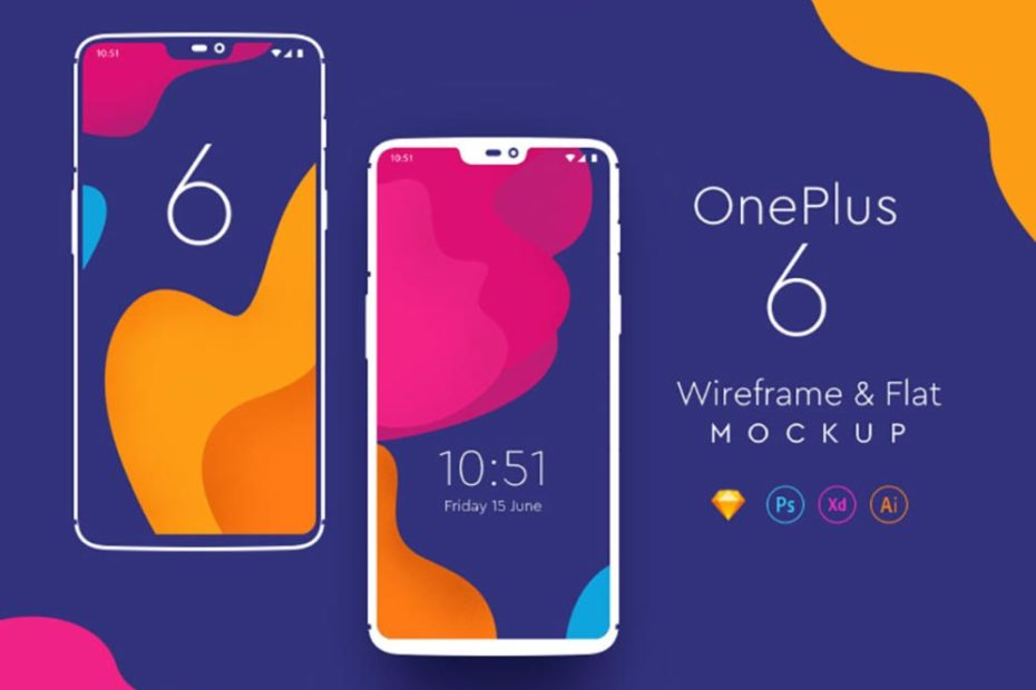 Free OnePlus 6 Phone Mockup