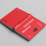 Free Opened Book Cover Mockup