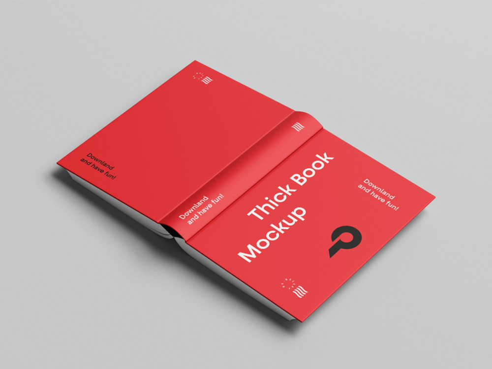 Opened Book Cover Mockup