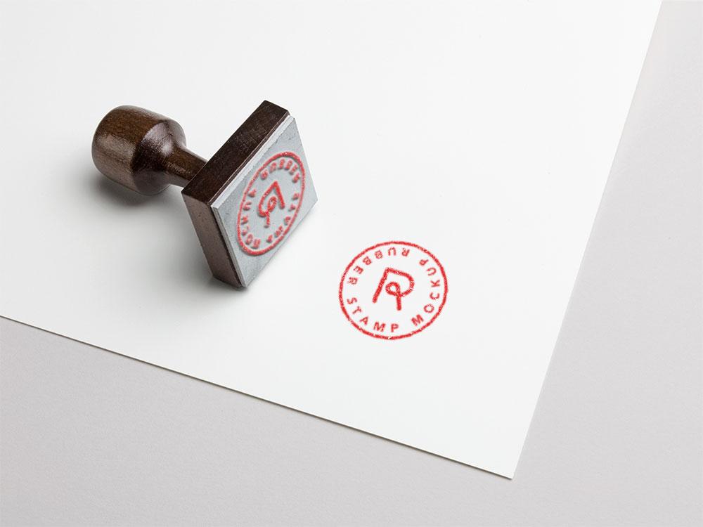 PSD Rubber Stamp Mockup