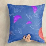 Free Pillow in Hand Mockup