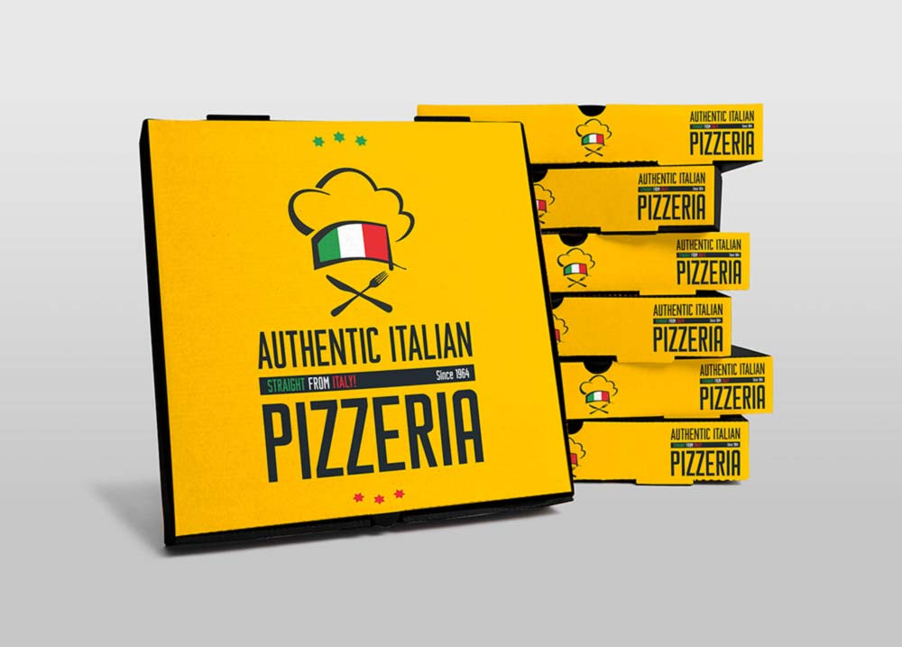 Free Pizza Boxes Mockup PSD