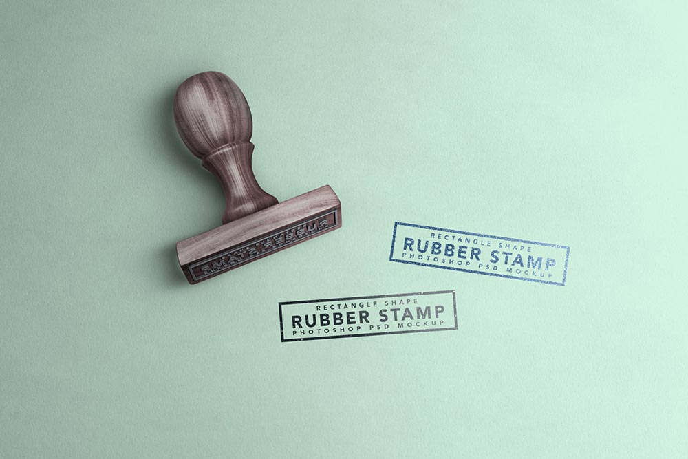 Rectangle Stamp Mockup