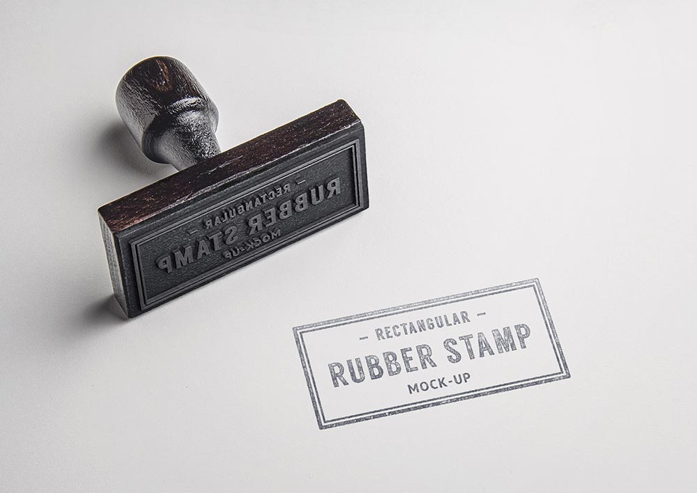 Rectangular Stamp Mockup