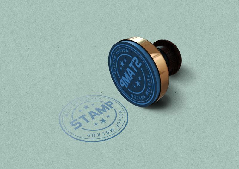 Round Stamp Mockup