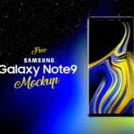 Free Samsung Galaxy Note 9 Mockup