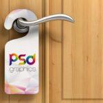 Free Simple Door Hanger Mockup