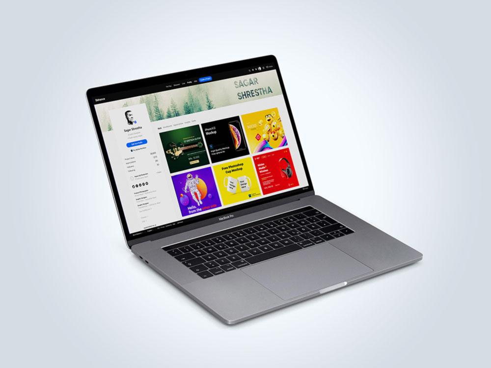 Free Sleek Macbook Mockup
