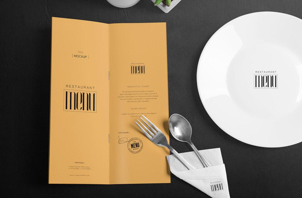 Sleek Restaurant Menu Mockup