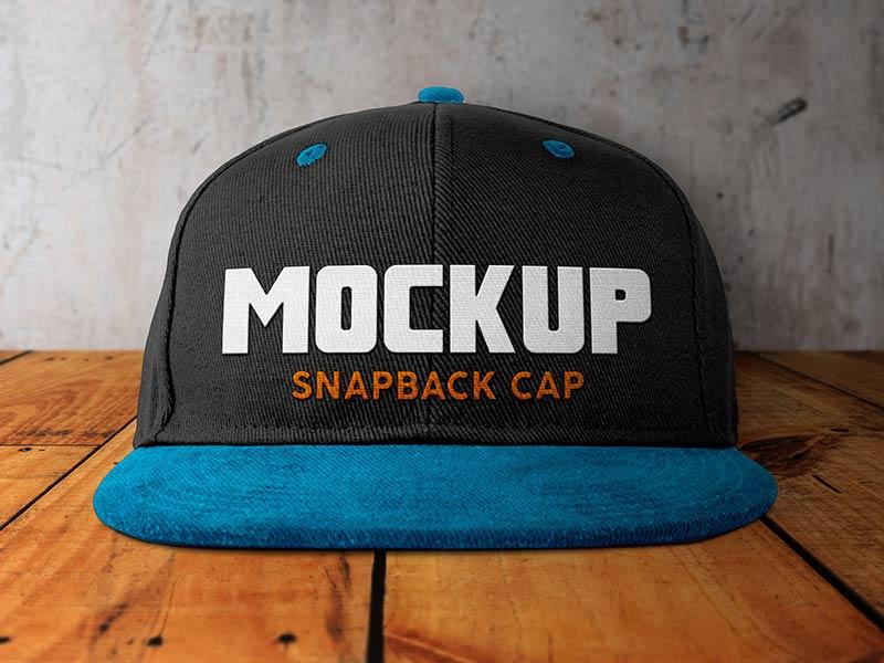 Free Snapback Cap Mockup