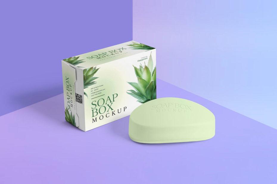 Free Soap Box Mockup PSD