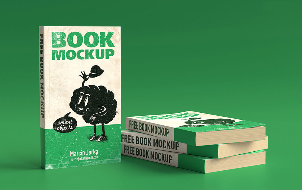Softcover Books PSD Mockup