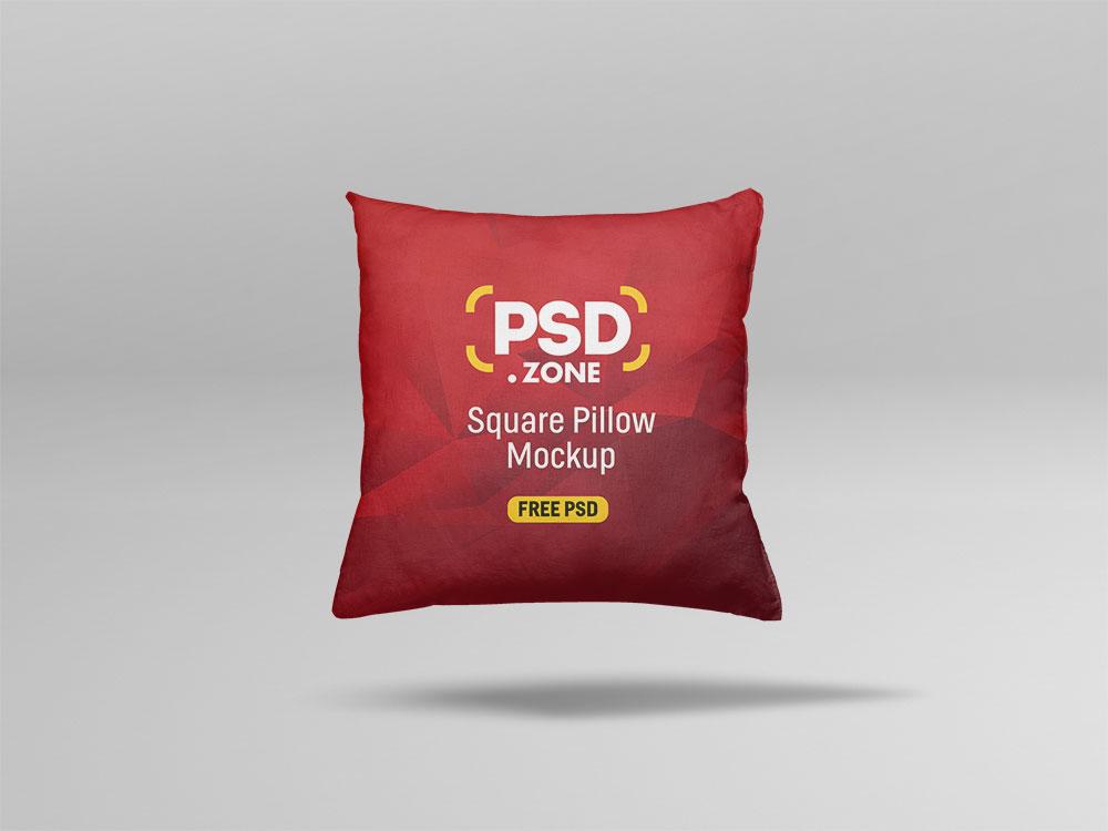 Square Pillow PSD Mockup