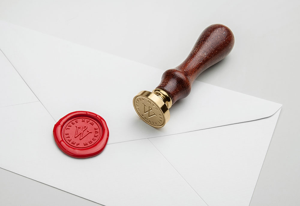 Wax Seal Stamp Mockup