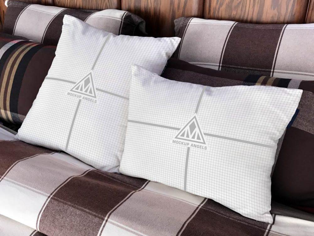 White Pillows Mockup